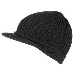 Čepice pletená s kšiltem US SHIELD ZELENÁ