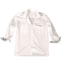 Košile SERVIS dlouhý rukáv na knoflíky BÍLÁ velikost M