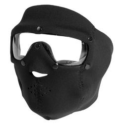 Maska celoobličejová BASIC NEOPREN s čirými brýlemi ČERNÁ