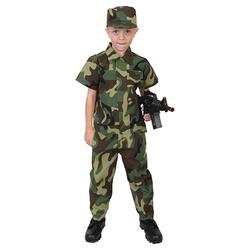 Komplet kostým VOJÁK dětský WOODLAND velikost 4-6