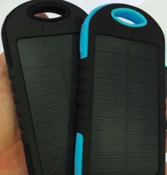 Power bank 5.000 mAh - solární - černá barva